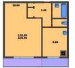 1-комнатная квартира, метро Улица академика Янгеля (11)